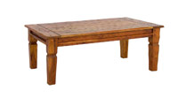 Mesas bajas de salon en madera rustica