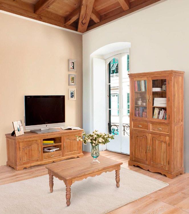 Mesa de tv o mesa baja de sal n o vitrina avignon mia home for Home salon avignon