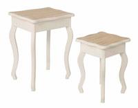 Set de mesas baja de salon nido Delia - Set de mesas baja de salon nido Delia