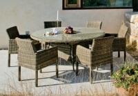 Conjunto de mesa circular con sillas o sillones - Conjunto de comedor circular para exterior con sillones o sillas