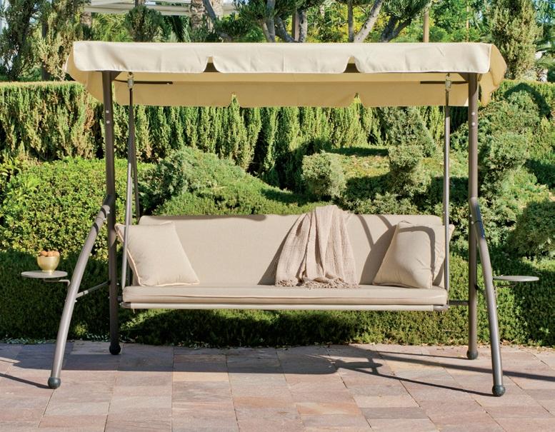 Balanc n cama para exterior for Balancin madera jardin