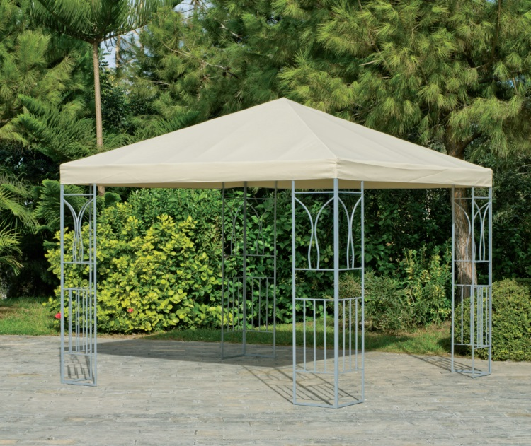 Toldo desmontable de acero for Estructura de toldo