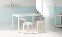 Mesa de comedor Podio - Mesa fija realizada en tres alturas de estilo nórdico.