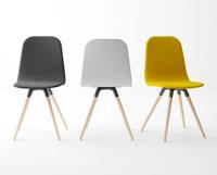 Silla Nuba - Silla Nuba, Silla de diseño para cocina, salón o contract. Base de madera y asiento lacado o tapizado.