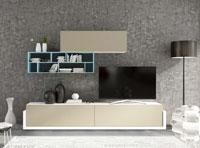 Mueble de Salón moderno Omega 8 - Composición de mueble moderno para salón.