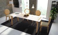 Mesa de comedor extensible Omega - Mesa de comedor extensible Omega, fabricada en madera