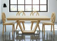 Mesa de comedor extensible Virtus - Mesa de comedor extensible Virtus, fabricada en madera