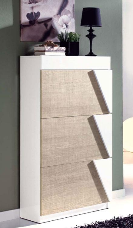 Zapatero moderno 11 - Amplio zapatero de 3 puertas con tiradores