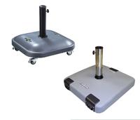 Bases para parasoles de cemento pintado con ruedas - Bases para parasoles de cemento pintado con ruedas, diferentes tamaños
