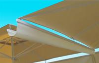 Canal vierteagua para parasoles  - Canal vierteagua para parasoles de 3 y 4 mts