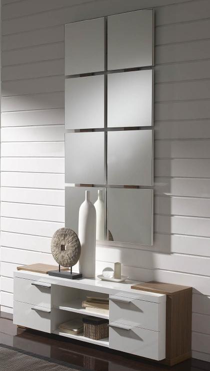 Recibidor hall unit espejo combinado juego for Espejos de diseno para entradas