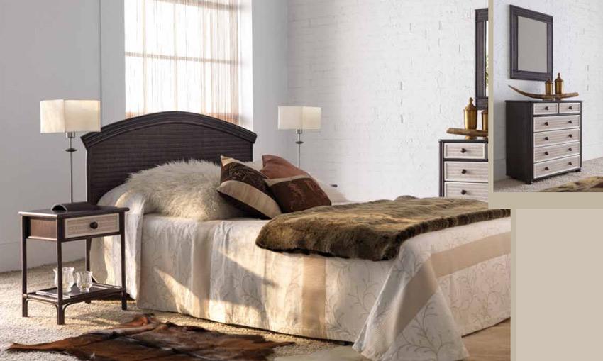 Dormitorio de ratan Modelo 705 - Dormitorio de ratan Modelo 705
