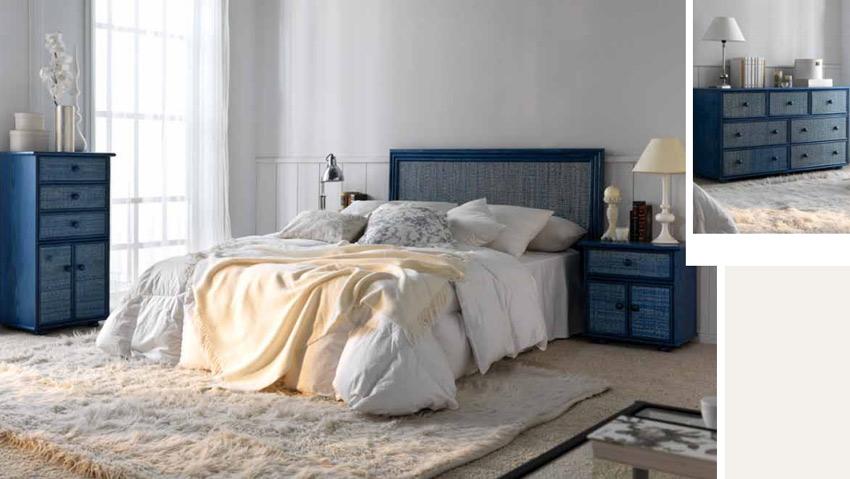 Dormitorio de ratan Modelo 949 - Dormitorio de ratan Modelo 949