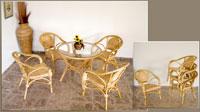 Sillón o mesa de centro en ratan J24/J666 - Sillón o mesa de centro en ratan J24/J666