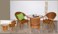 Sillón o mesa de centro en ratan J910/J911 - Sillón o mesa de centro en ratan J910/J911