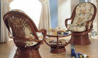 Sillón o mesa de centro en ratan J672/J674 - Sillón o mesa de centro en madera y ratan J672/J674