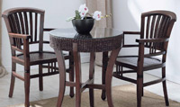 Sillón o mesa de centro en madera y ratan J881/1369 - Sillón o mesa de centro en madera y ratan J881/1369