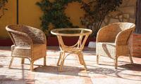 Sillón o mesa de centro en ratan J942/J666 - Sillón o mesa de centro en ratan J942/J666