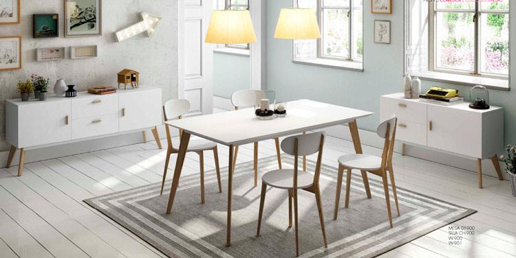 Mesa de comedor DT900 o sillas CH900 o Aparador W900 o W901 DUGAR  - Mesa de comedor DT900 o sillas CH900 o Aparador W900 o W901 DUGAR