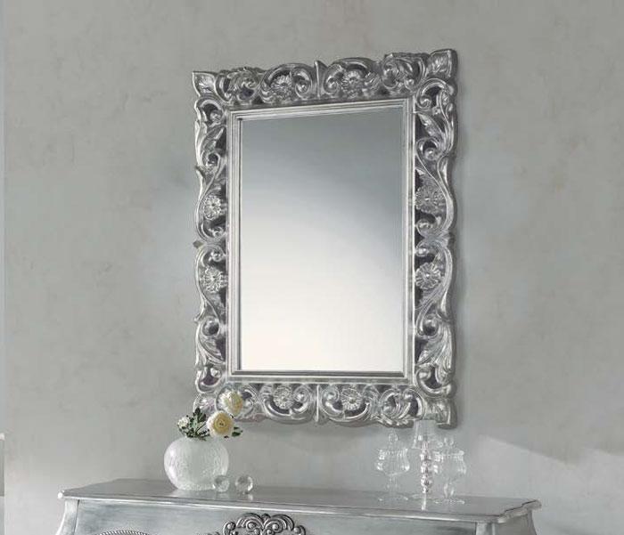Mia home espejo cuadrado pu 043 for Espejos plateados para salon