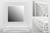Set cuadrado de consola y espejo Dubai - Set cuadrado de consola y espejo Dubai fabricado en Metal