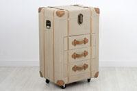 Baul de madera tapizado - BAUL en madera de ABETO+MDF tapizado con fabric