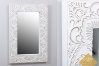 Espejo rectangular tallado - Espejo rectangular tallado, fabricado en madera