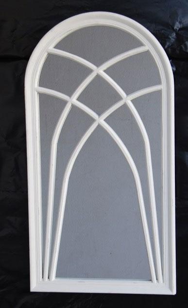 Espejo marco de madera blanco roto mia home for Espejo marco madera blanco