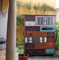 SINFONIER ESTILO VINTAGE CP - Sinfonier vintage varios cajones y puertas en varios colores