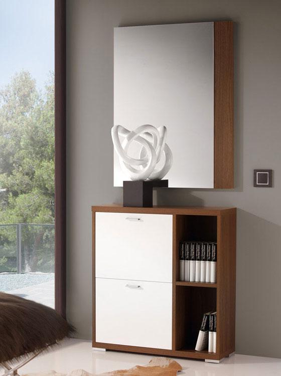 Zapatero 503 o Espejo 809 - Zapatero o espejo de diseño  moderno y actual