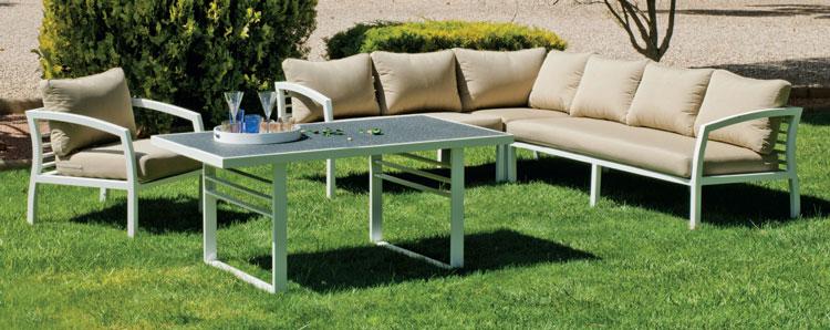 Set muebles de lujo para exteriores Acapulco 22 - Muebles robustos con resistencia garantizada y acabado de lujo