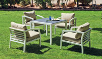 Set mesa de comedor de lujo para exteriores Acapulco 909 - Mesa de comedor con resistencia garantizada y acabado de lujo Acapulco 909