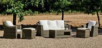 Set muebles para exteriores AMANDA  - Muebles de Rattan de lujo con resistencia garantizada