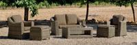 Set muebles para exteriores AMANDA 9 - Muebles de Rattan de lujo con resistencia garantizada