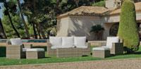 Set muebles de lujo para exteriores ABASARI - Muebles de Rattan de lujo con resistencia garantizada