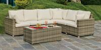 Set muebles de lujo para exteriores ABASARI 39 - Muebles de Rattan de lujo con resistencia garantizada
