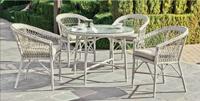 Set mesa de comedor para exteriores Dalfo 70/100 - Set de comedor con resistencia garantizada y acabado de lujo Dalfo 70-100