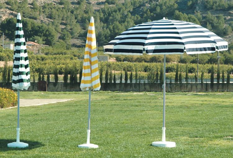 Parasol de acero modelo Gardenia - Parasol de acero modelo  Gardenia, gran resistencia y solidez.