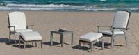 Set mesa alta bar con sillas de lujo para exteriores Hanoy 45 - Juego de sillones y mesa de centro con resistencia garantizada y acabado de lujo Hanoy 45