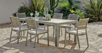 Set mesa de comedor de lujo para exteriores Madeira 200 - Mesa de comedor con resistencia garantizada y acabado de lujo Madeira 200