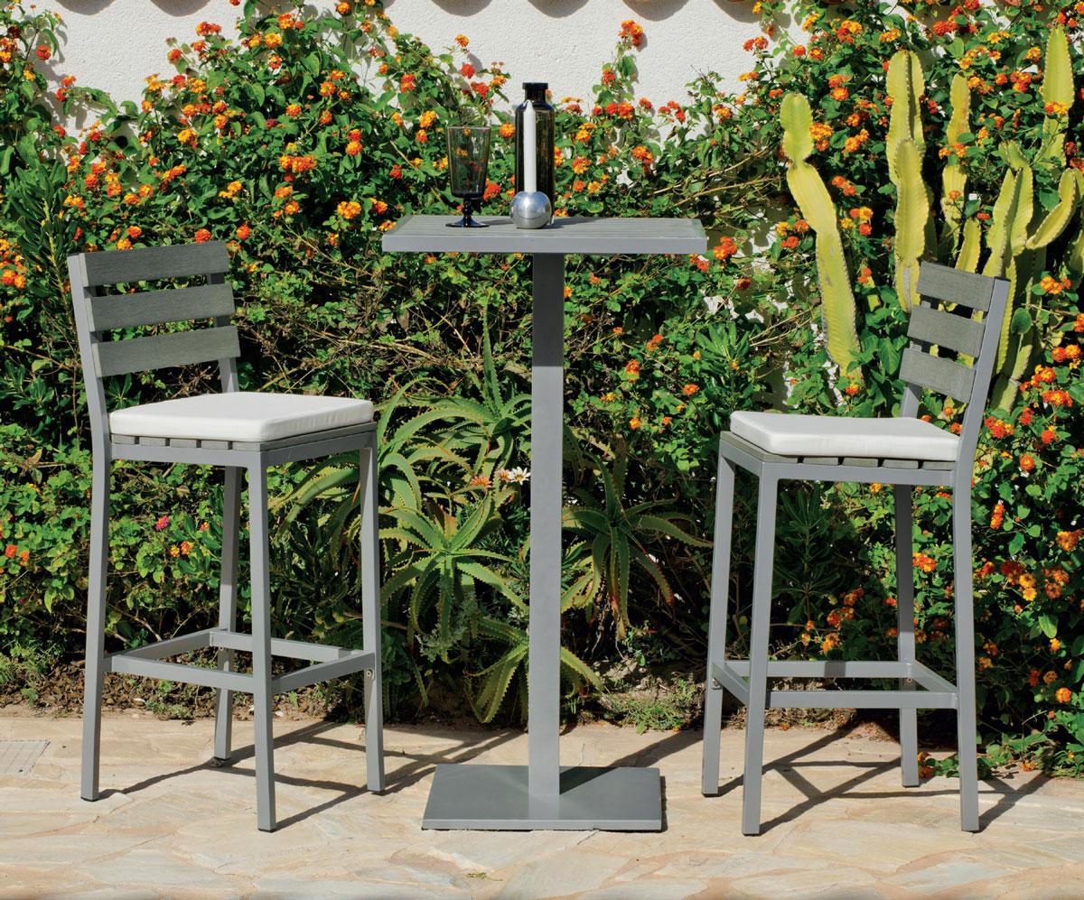 Mia home set muebles de lujo para exteriores madeira 60 for Sillas bar muebles y accesorios