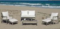 Set de sofá de lujo para exteriores Madeira 9 - Sofá con resistencia garantizada y acabado de lujo Madeira 9
