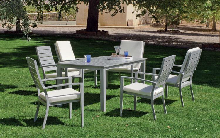 Set mesa de comedor de lujo para exteriores Monterrey 150 - Mesa de comedor con resistencia garantizada y acabado de lujo Monterrey 150