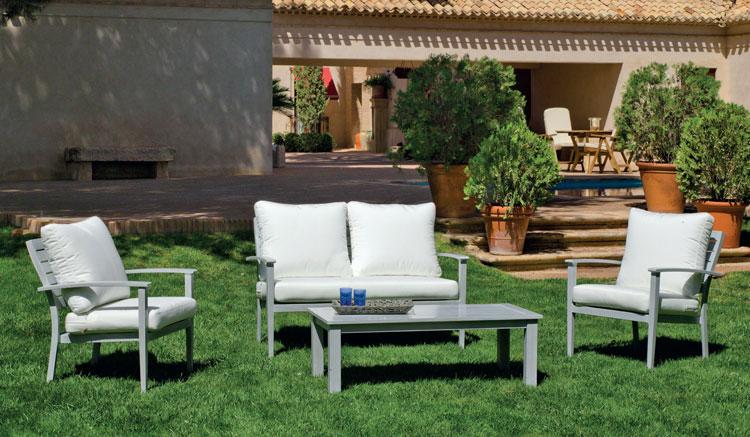 Set de sofá de lujo para exteriores Monterrey 7 - Sofá con resistencia garantizada y acabado de lujo Monterrey 7