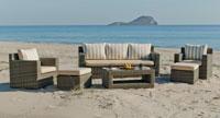 Set muebles para exteriores MONTECARLO - Muebles de Rattan de lujo con resistencia garantizada