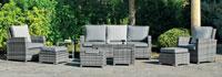 Set muebles de lujo para exteriores Rimini - Muebles robustos con resistencia garantizada