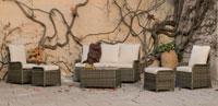 Set muebles para exteriores RIVERA - Muebles de Rattan de lujo con resistencia garantizada