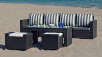 Set muebles de lujo para exteriores SALERMO 6 - Muebles de Rattan de lujo con resistencia garantizada