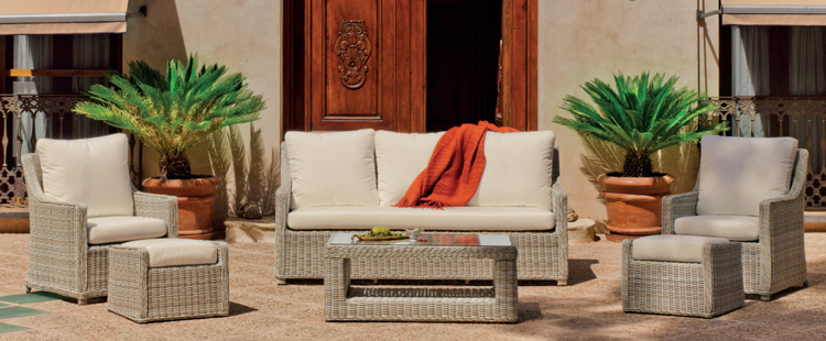Set muebles para exteriores AINOA  - Muebles de Rattan de lujo con resistencia garantizada Ainoa 8 o 9