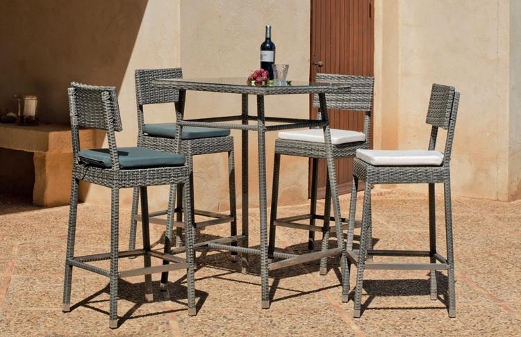 Set mesa alta para exteriores ALMARA 75 - Mesa alta con resistencia garantizada y acabado de lujo  ALMARA 75